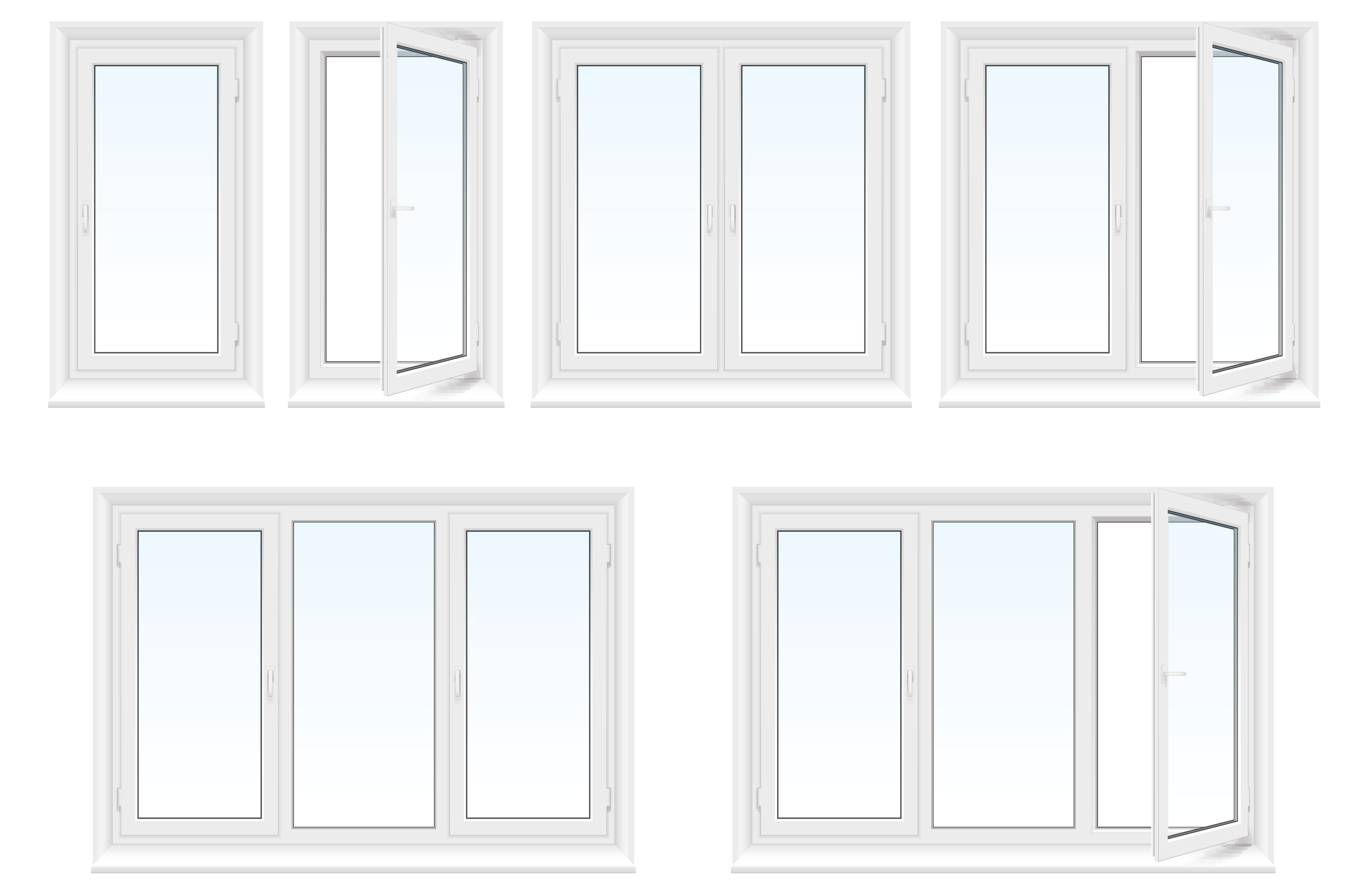Verschillende mogelijkheden: stel je eigen raam samen